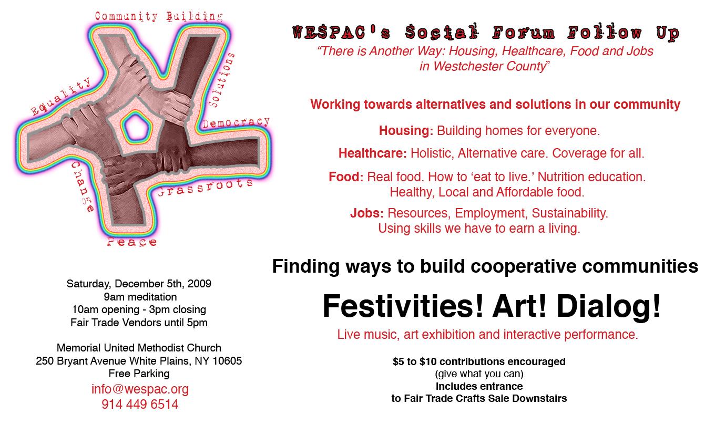 WESPAC Social Forum Follow Up