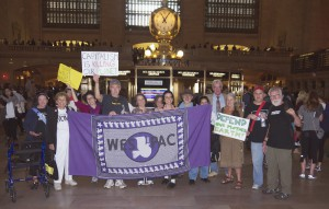 Folks at Grand Central before we head off to join the historic people's climate march